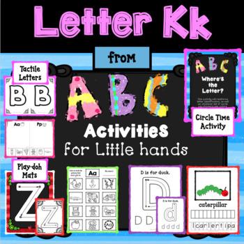 LETTER Kk from ABC ACTIVITIES FOR LITTLE HANDS for Preschoolers/Kindergarteners