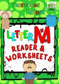 LETTER M - ACTIVITY PACK - Reader, Flashcards, Worksheets