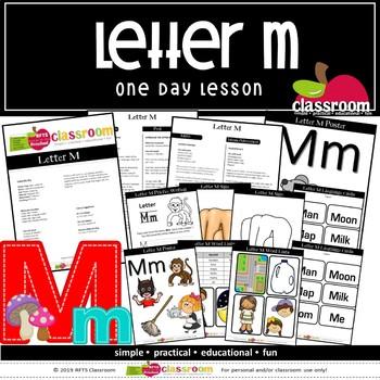LETTER Mm DAY Preschool PreK Kindergarten 1-Day Lesson Plan