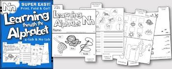 LETTER Nn (ACTIVITY TAB BOOK) PRINT FOLD and GO