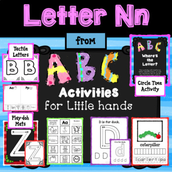 LETTER Nn from ABC ACTIVITIES FOR LITTLE HANDS for Preschoolers/Kindergarteners