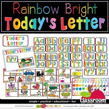 LETTER OF THE DAY - LEARNING CENTER - RAINBOW BRIGHT