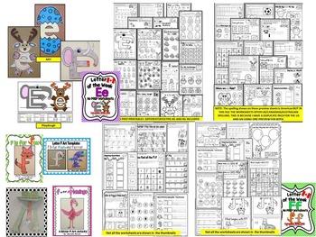 ALPHABET WORKSHEETS BUNDLE- NO PREP BUNDLE 1- LETTERS A, B, C, D, E, F