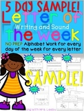 LETTER OF THE WEEK SAMPLE {FREEBIE}