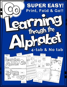LETTER Oo (ACTIVITY TAB BOOK) PRINT FOLD and GO
