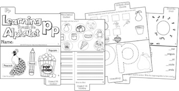 LETTER Pp (ACTIVITY TAB BOOK) PRINT FOLD and GO
