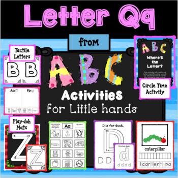 LETTER Qq from ABC ACTIVITIES FOR LITTLE HANDS for Preschoolers/Kindergarteners