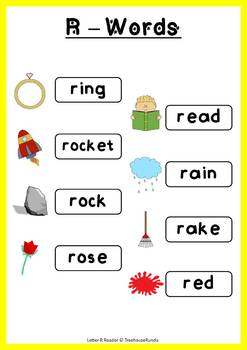 LETTER R - ACTIVITY PACK - Reader, Flashcards, Worksheets