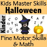 LETTER RESCUE! Fine Motor Halloween Activity (with math, letter recognition!)