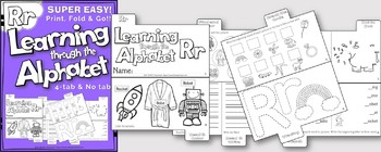 LETTER Rr (ACTIVITY TAB BOOK) PRINT FOLD and GO