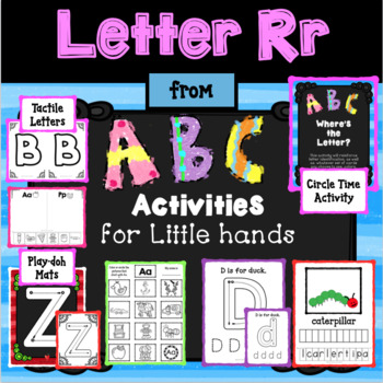 LETTER Rr from ABC ACTIVITIES FOR LITTLE HANDS for Preschoolers/Kindergarteners