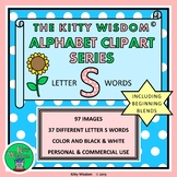 LETTER S Words CLIP ART - Alphabet Beginning Sounds includ