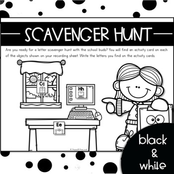 LETTER PAIR SCAVENGER HUNT {WRITE the ROOM Letter Recognition Activities}