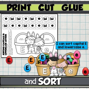 LETTER SORTING for your INTERACTIVE NOTEBOOK {recognition & beginning sound}