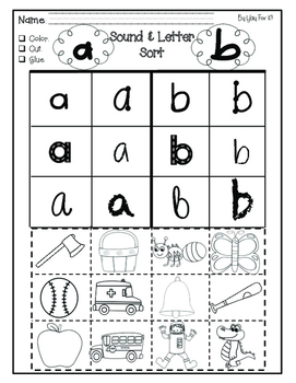 Letters and Sounds--Cut and Glue Activities