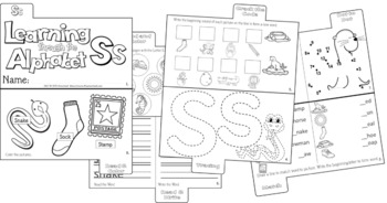 LETTER Ss (ACTIVITY TAB BOOK) PRINT FOLD and GO