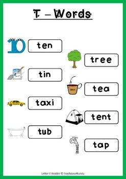 LETTER T - ACTIVITY PACK - Reader, Flashcards, Worksheets