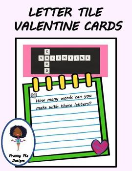 LETTER TILE VALENTINE CARDS