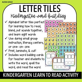LETTER TILES | Word Building | Learning & Blending Sounds ...