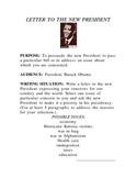 LETTER TO THE NEW PRESIDENT