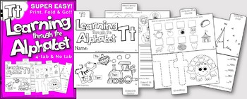 LETTER Tt (ACTIVITY TAB BOOK) PRINT FOLD and GO