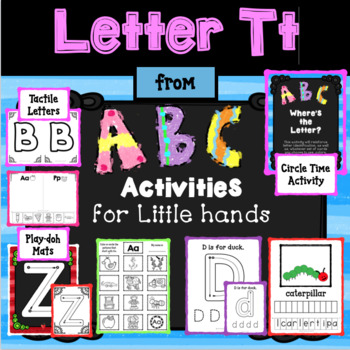 LETTER Tt from ABC ACTIVITIES FOR LITTLE KIDS for Preschoolers/Kindergarteners