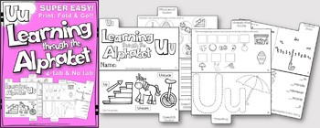 LETTER Uu (ACTIVITY TAB BOOK) PRINT FOLD and GO