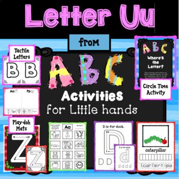 LETTER Uu from ABC ACTIVITIES FOR LITTLE FINGERS for Preschoolers/kindergartener