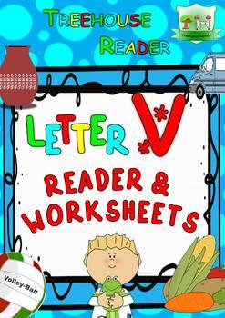 LETTER V - ACTIVITY PACK - Reader, Flashcards, Worksheets