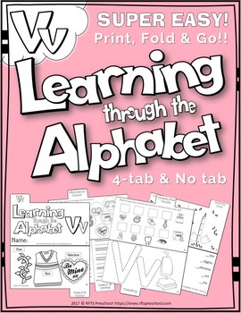 LETTER Vv (ACTIVITY TAB BOOK) PRINT FOLD and GO