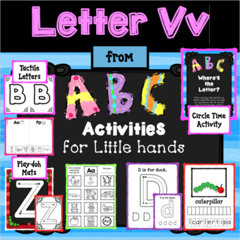 LETTER Vv from ABC ACTIVITIES FOR LITTLE HANDS for Preschoolers/Kindergarteners