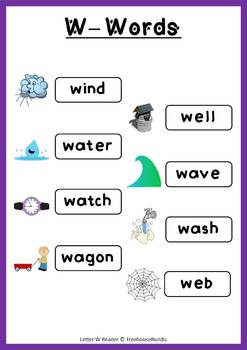 LETTER W - ACTIVITY PACK - Reader, Flashcards, Worksheets