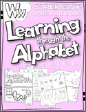 LETTER Ww (ACTIVITY TAB BOOK) PRINT FOLD and GO