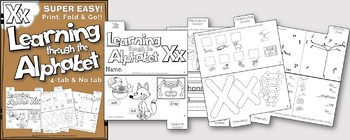 LETTER Xx (ACTIVITY TAB BOOK) PRINT FOLD and GO
