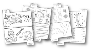 LETTER Yy (ACTIVITY TAB BOOK) PRINT FOLD and GO