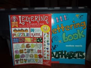LETTERING BOOKS     (set of 2)