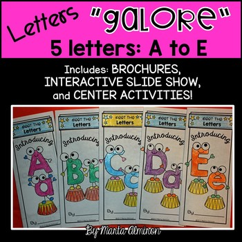 LETTERS GALORE {5 Letters: A to E} $1 TODAY ONLY