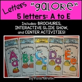 LETTERS GALORE {5 Letters: A to E}