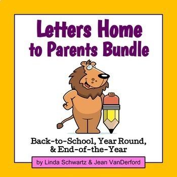 LETTERS HOME TO PARENTS BUNDLE