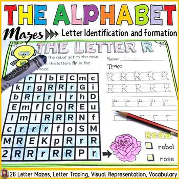 LETTERS OF THE ALPHABET: MAZES: IDENTIFICATION AND FORMATION