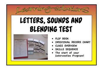 LETTERS, SOUNDS and BLENDING SCREENER - Targeted Intervention Tool