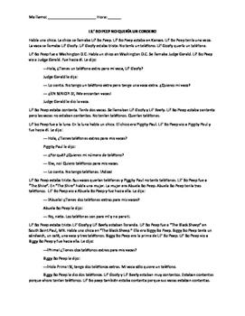 LEVEL 1- TPRS READING (Past Tense) // Lil' Bo Peep