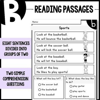 LEVEL A-F Reading Comprehension Passages - BUNDLE