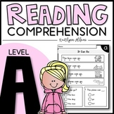 LEVEL A Reading Comprehension Passages - Kindergarten