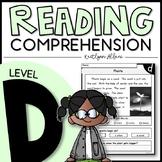 LEVEL D Reading Comprehension Passages