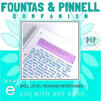 LEVEL E READING RESPONSE PROMPTS