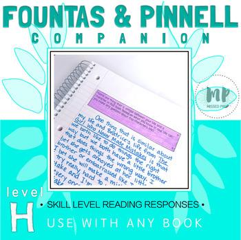 LEVEL H READING RESPONSE PROMPTS