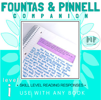 LEVEL i READING RESPONSE PROMPTS