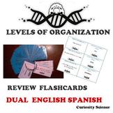 LEVELS OF ORGANIZATION FLASHCARDS DUAL FOR ELLs