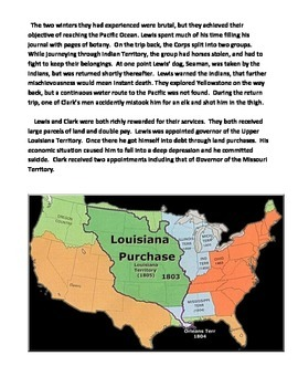LEWIS AND CLARK:  EXPLORERS OF THE LOUISIANA TERRITORY (GRADES 5 - 8)